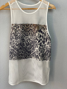 Nadine Mesh and Leopard Work Out Tank
