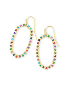Elle Crystal Open Frame Earrings