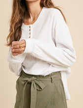 Load image into Gallery viewer, Henley Long Sleeve - Ivory