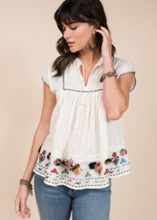 Load image into Gallery viewer, Embroidered Babydoll Top