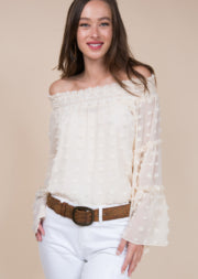 Ivory Off The Shoulder Blouse