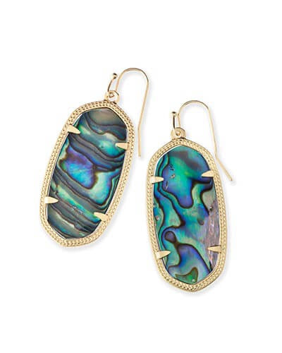 Elle Gold Earrings-Abalone