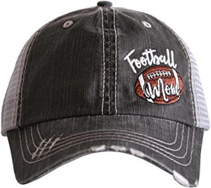 Football Mom Side Patch Hat