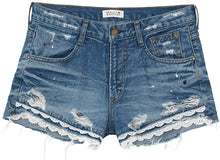 Load image into Gallery viewer, Couleur Brut Denim Shorts