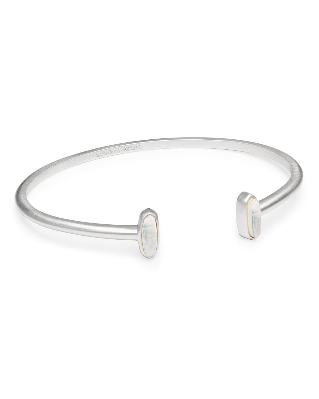Mavis Bright Silver Cuff Bracelet-Ivory Mother of Pearl