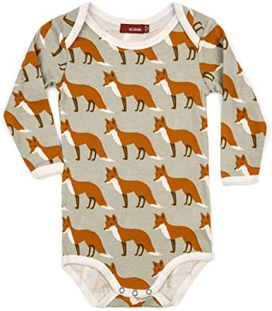 Milkbarn Fox Long Sleeve Onesie