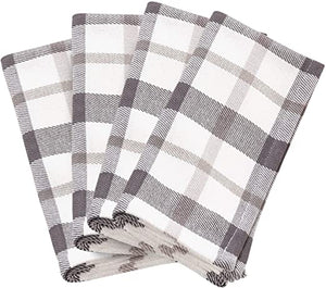 Grey Plaid Napkins