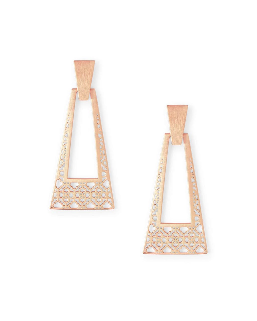 Kase Rose Gold Large Statement Earrings