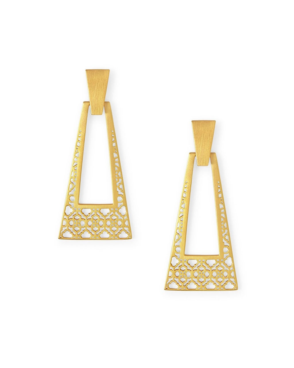 Kase Vintage Gold Large Statement Earrings