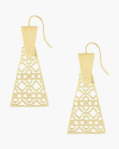 Keerti Gold Filigree Drop Earrings