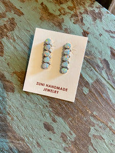 5 Stone Bar Stud Earring