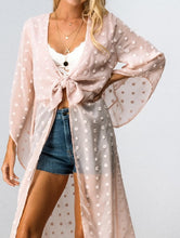 Load image into Gallery viewer, Blush Tie Front Kimono