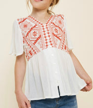 Load image into Gallery viewer, Kids Embroidered Peplum Top