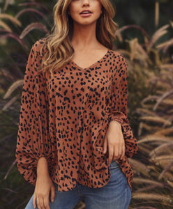 Toffee Animal Dot Top