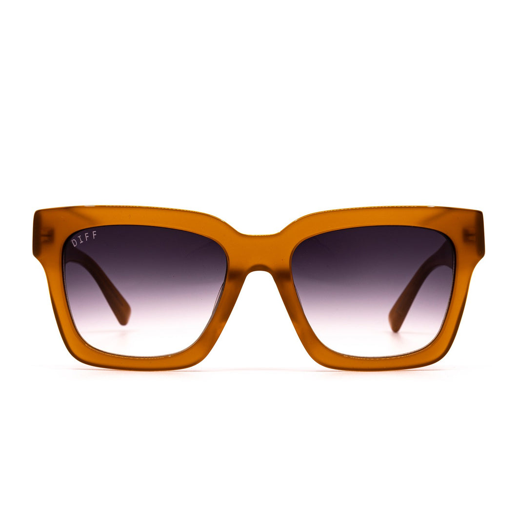 Austen Dark Ginger/ Brown Gradient Sunglasses