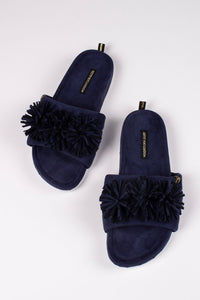 Albany Slippers-Navy