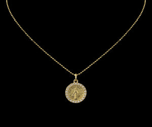 "Gold Virgin Mary 16"" Necklace"