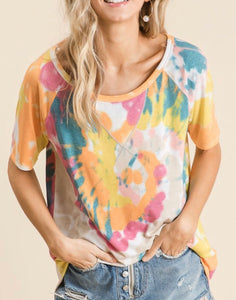 Yellow/Orange Tie Dye Top