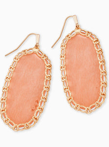 Macrame Rose Gold Danielle Earrings-Blush Wood