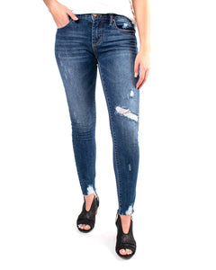 Distressed Denim Skinny Jean