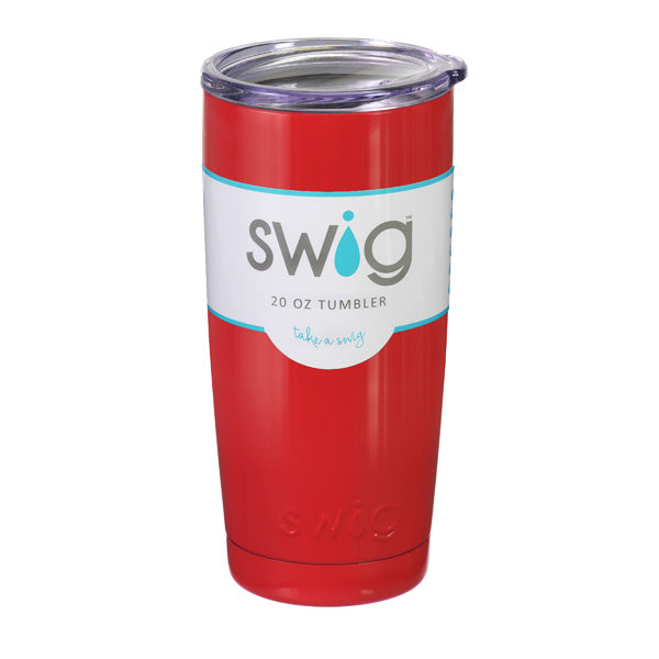 Swig 20 oz Red Tumbler