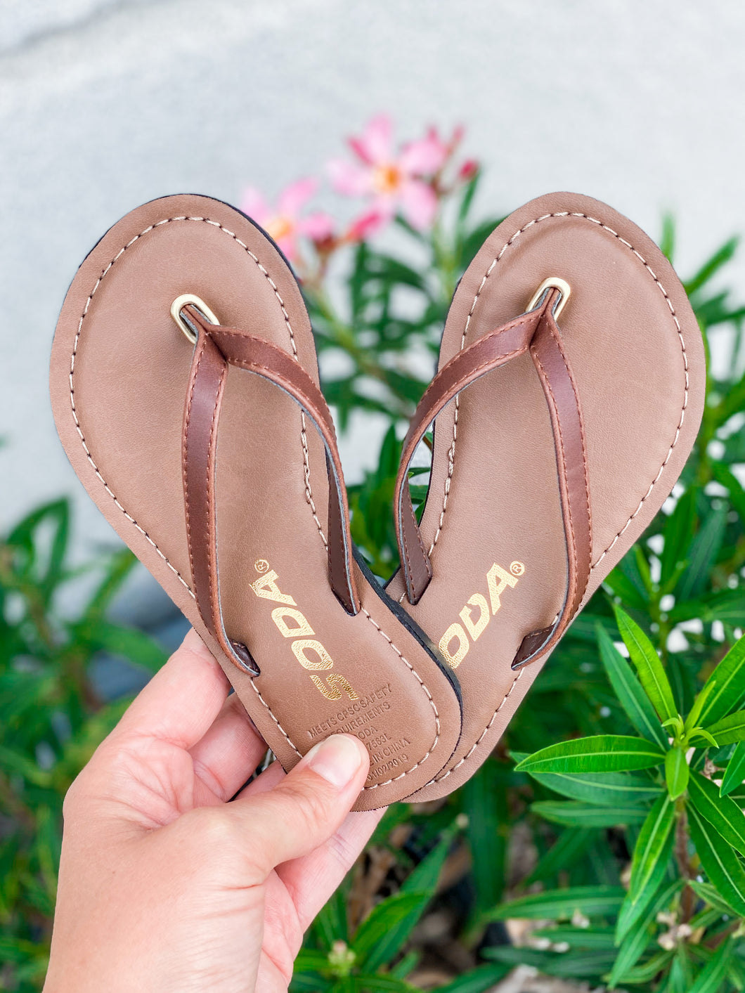 Youth Brown Flip Flops