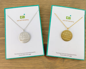 CAI Save Water Drink Champagne Necklace