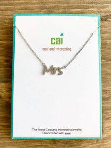 CAI Mrs Necklace Dainty- Silver