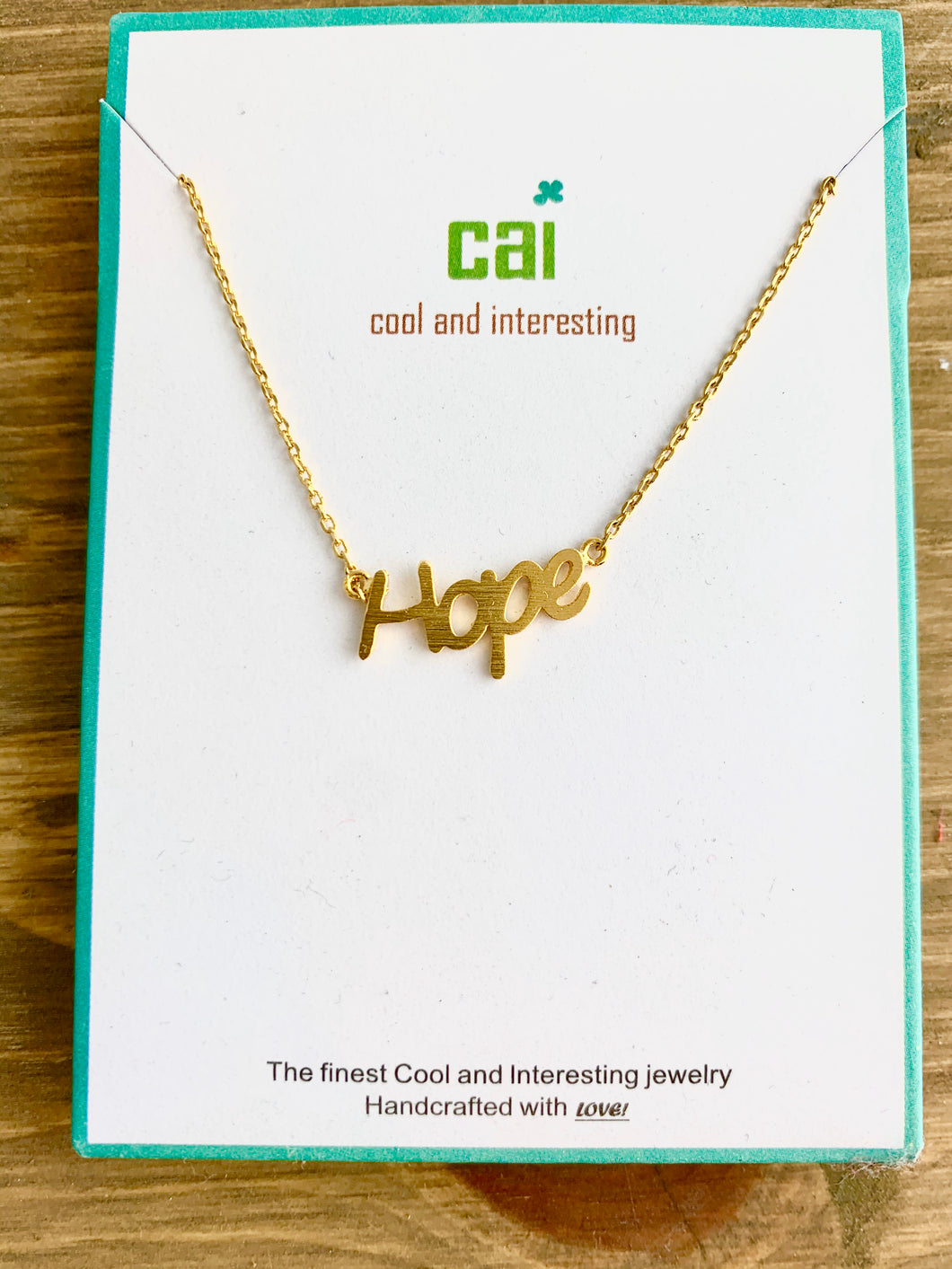 CAI Hope Necklace- Gold