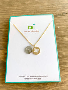 CAI Heart Two Tones  Symbol Necklace