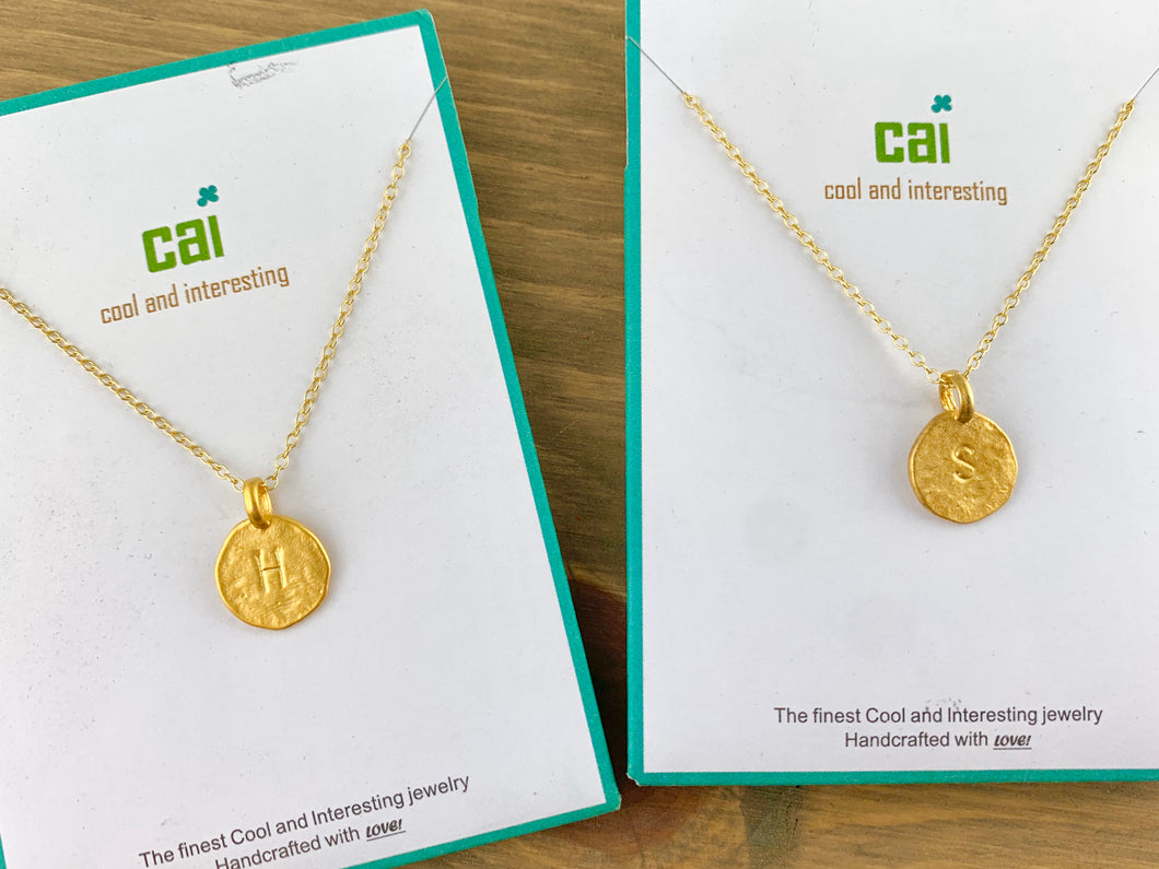 CAI Initial Necklaces- Gold