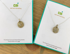 CAI Initial Necklaces- Silver