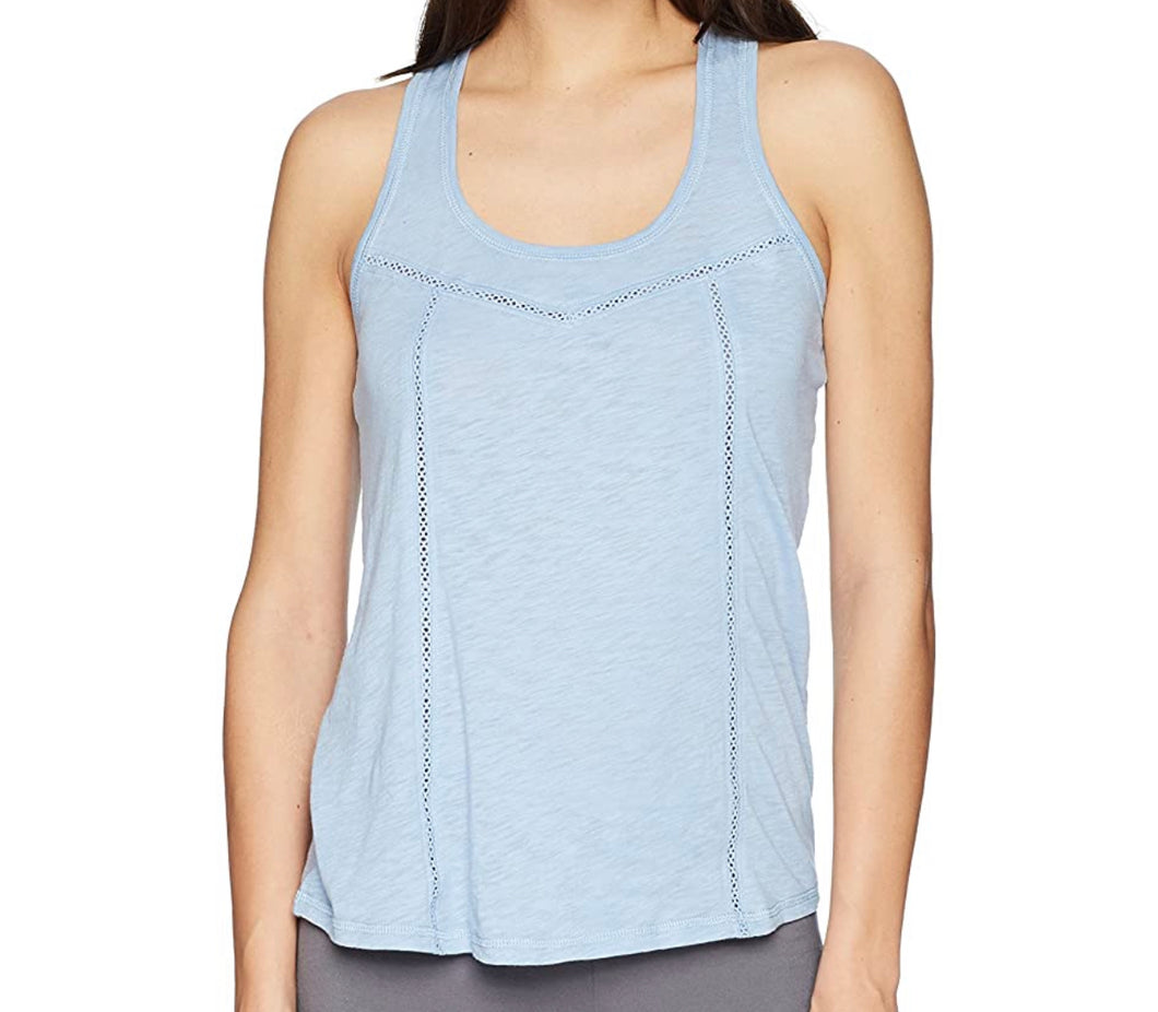 Riveting Basics Scoop Neck Tank Top-Blue