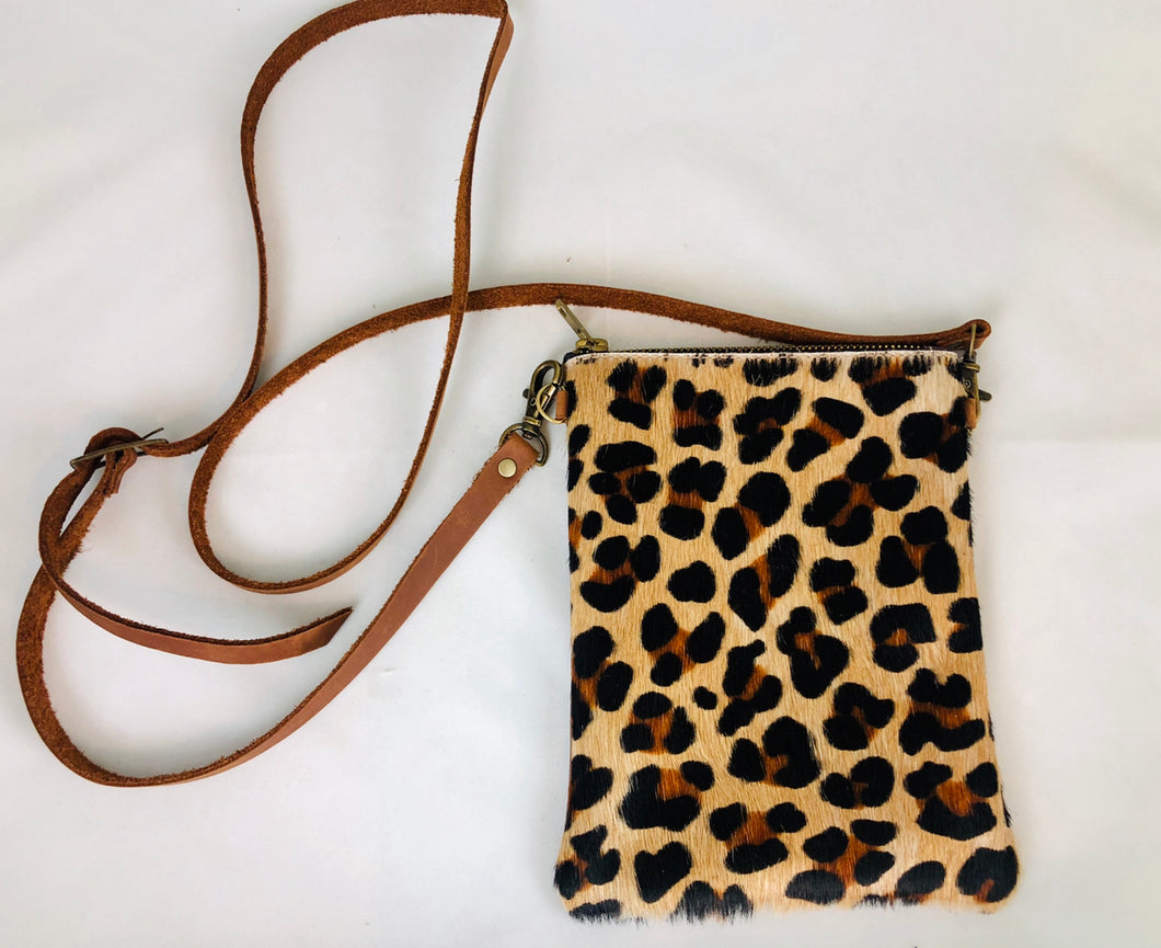 Leopard Leather Crossbody