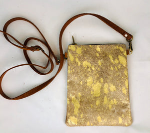 Gold Leather Crossbody