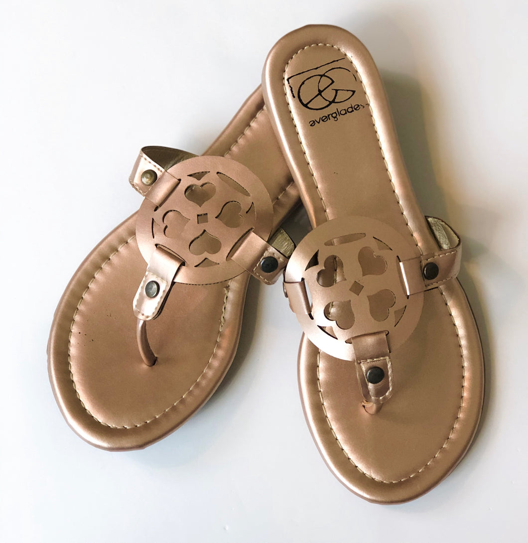 LuLu Rose Gold Sandal