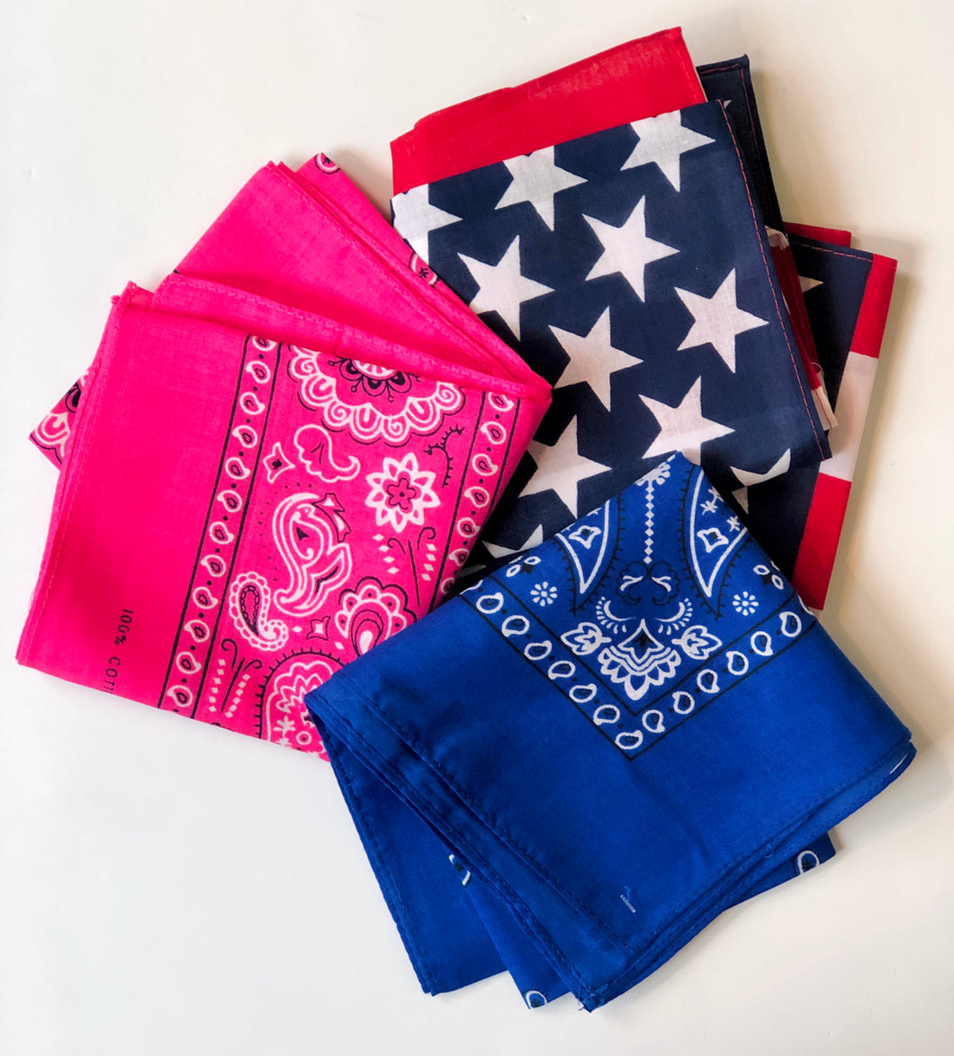 Double Sided Printed Bandanas