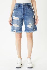 High Rise 90s Boyfriend Shorts