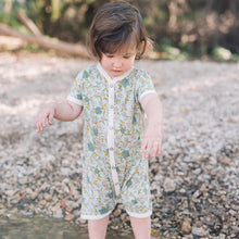 Load image into Gallery viewer, Milkbarn Blue Floral Shortall