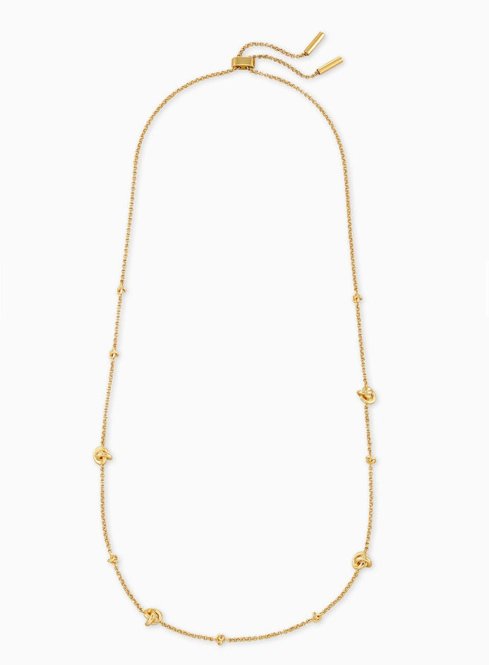 Presleigh Love Knot Gold Adjustable Necklace