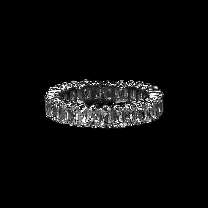 Emerald Cut Crystal Band
