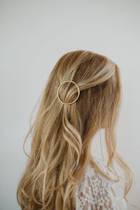 "2"" Gold Circle Hair Clip"