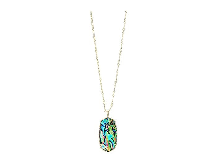 Faceted Reid Gold Necklace-Abalone