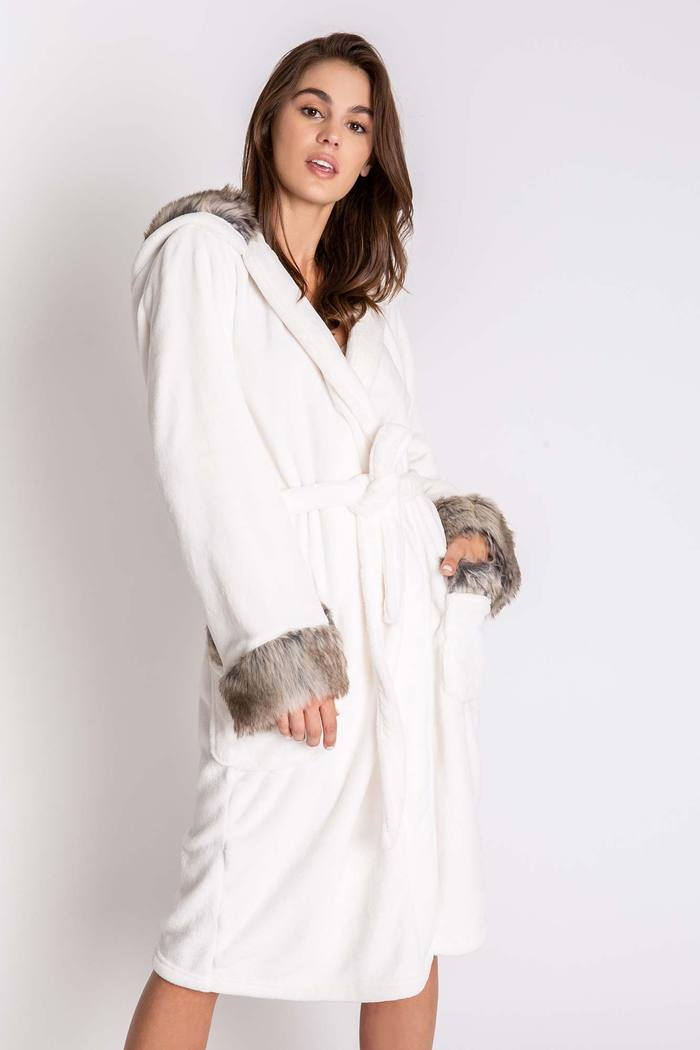 Hooded Plush Robe