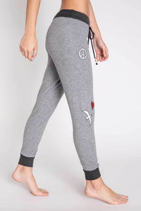 Peace And Love Banded Pant