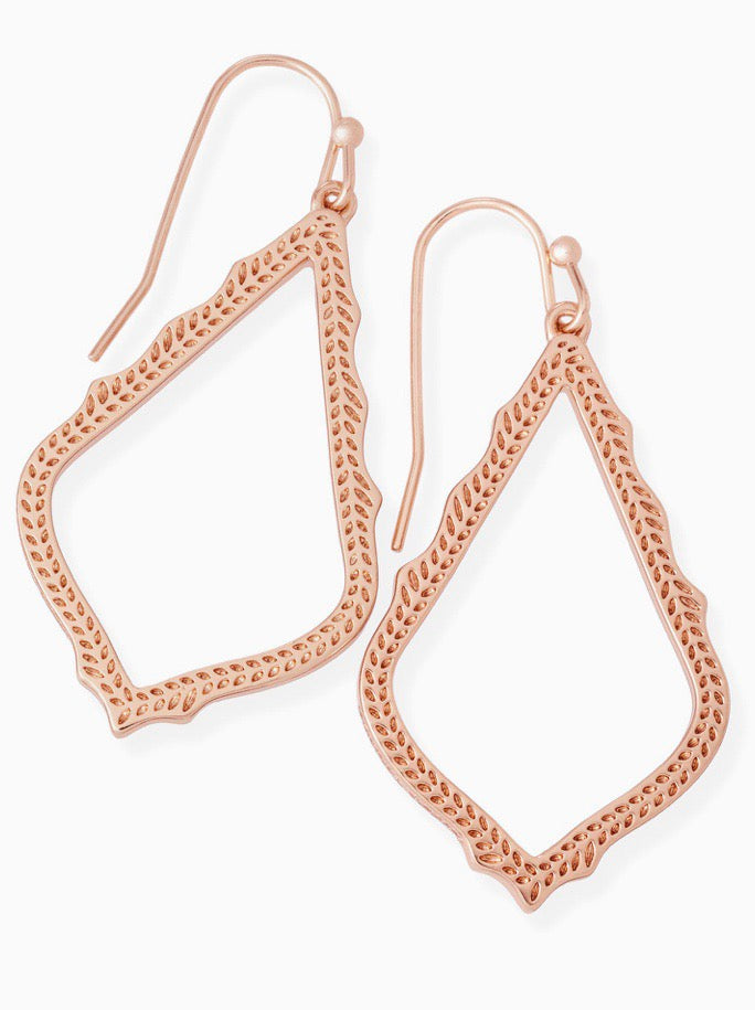 Sophia Rose Gold Earrings