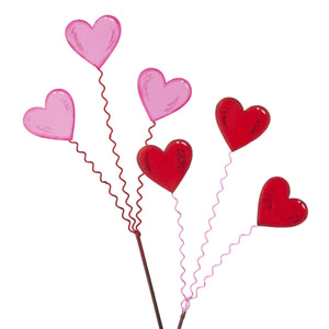 Three Heart Stake - Set of 2