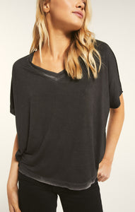 Black Mischa Sleek V-Neck