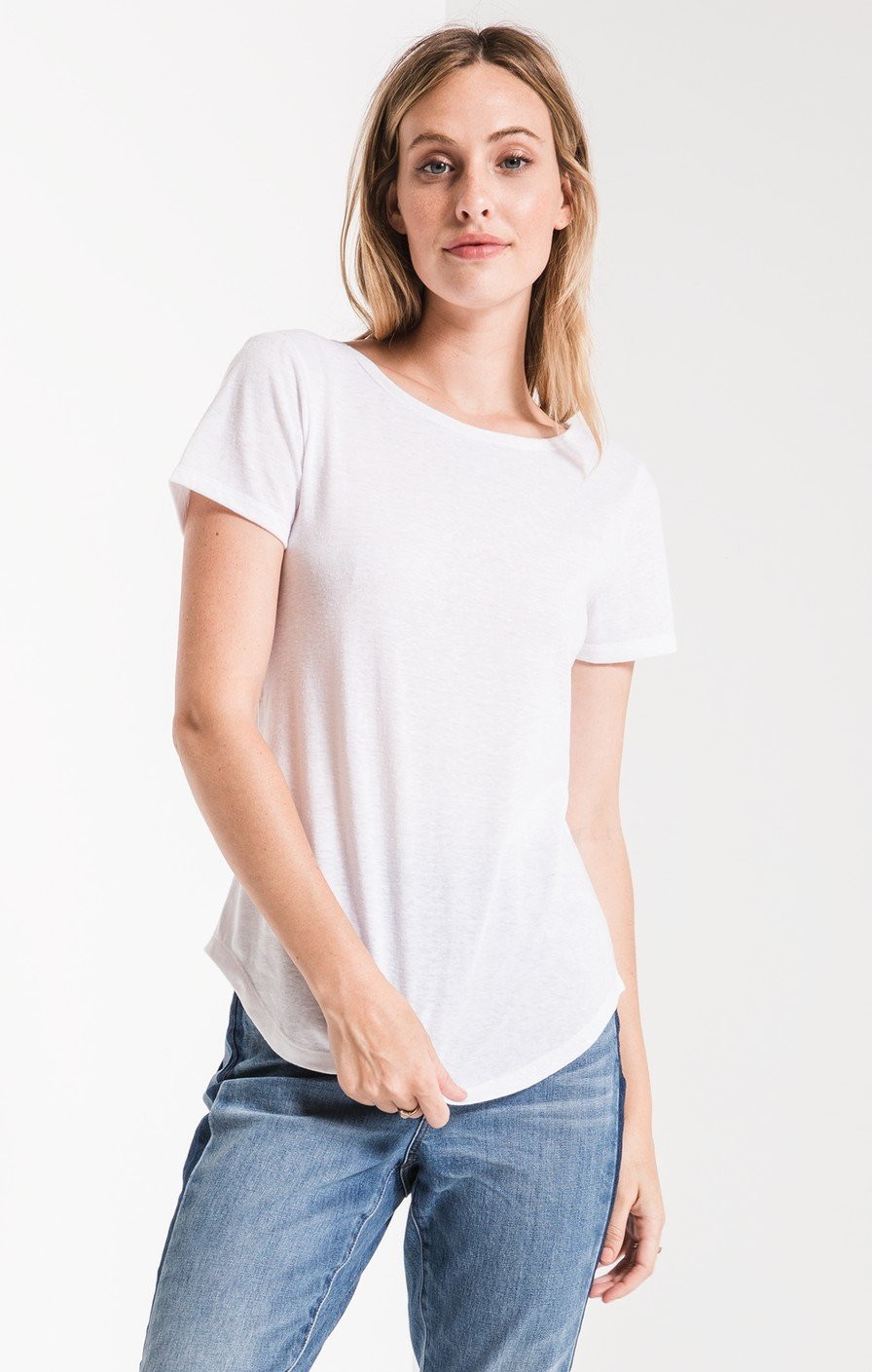Triblend Twist Back Tee