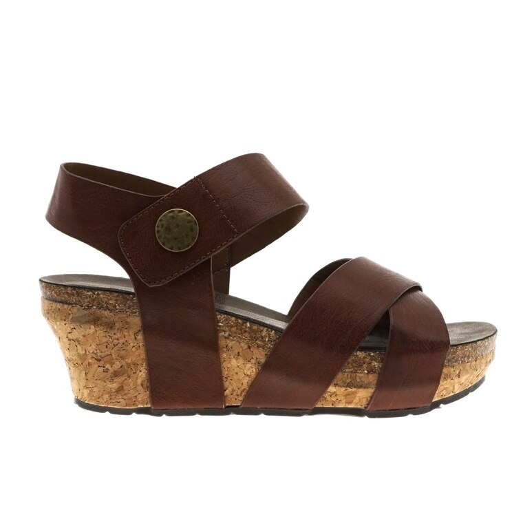 Chantal Wedge Sandals - Whiskey